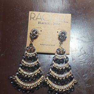 3/$13 Long duster chandelier gemstone earrings